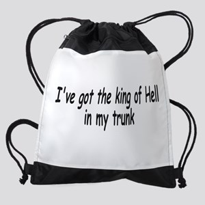 King of Hell 1 Drawstring Bag